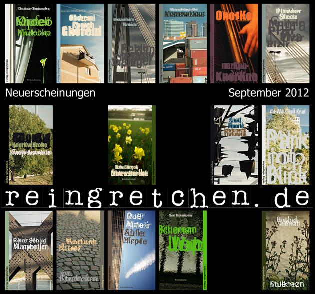 Reingretchen Neuerscheinungen September 2012