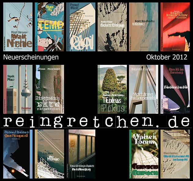Reingretchen Neuerscheinungen Oktober 2012