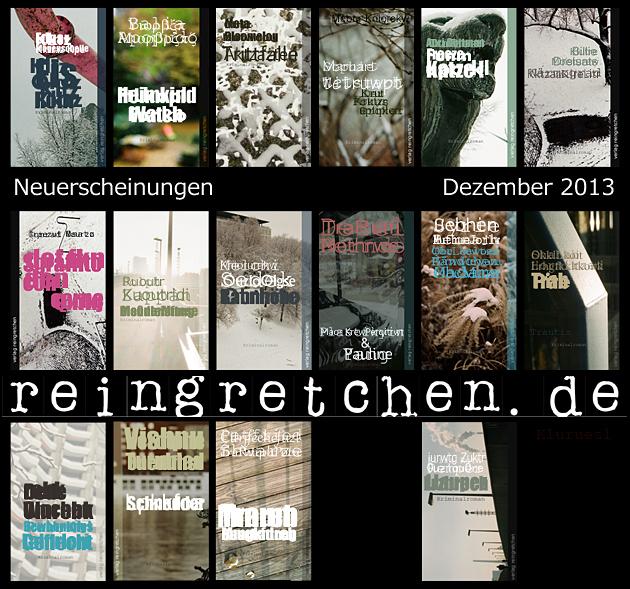 Reingretchen Neuerscheinungen November 2013
