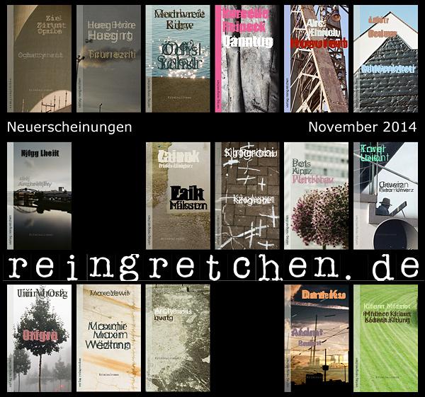 Reingretchen Neuerscheinungen November 2014